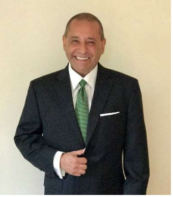 Latino middle aged man in business suit