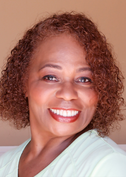 head shot of Linda McShan a middle aged African-American woman
