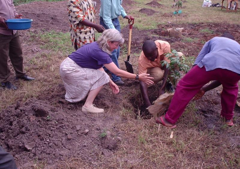 Ruth planting tree