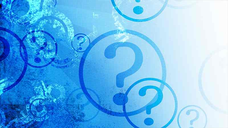 Blue question marks