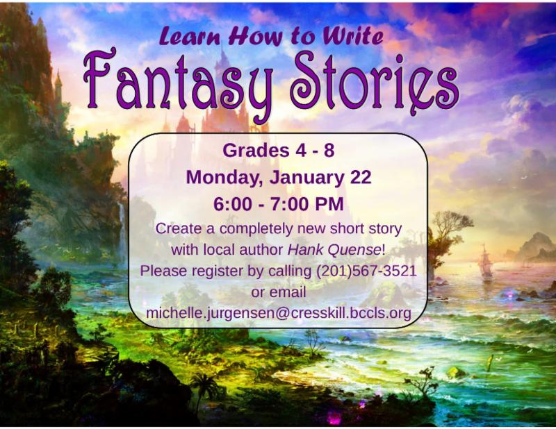 Fantasy Short Story Program for Kids