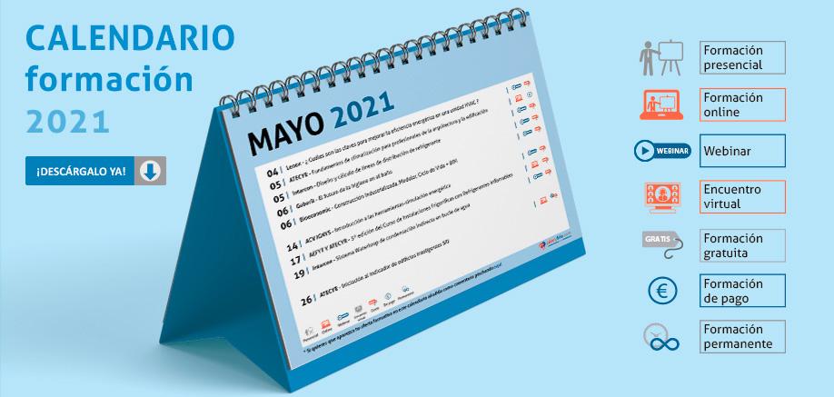 Calendario formación mayo