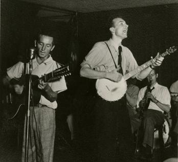 Woody Guthrie and Pete Seeger