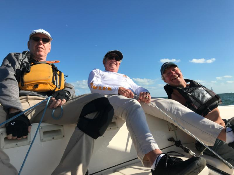 VA Sailing Team From left to right: Duane Smith, Michael Stephens and Patrik Norstrom