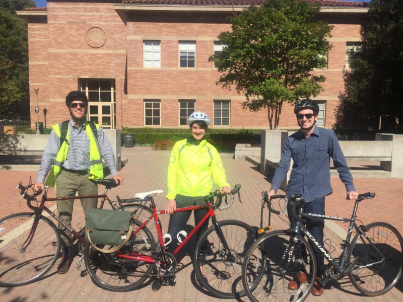 Emmett Institute bicycle commuters