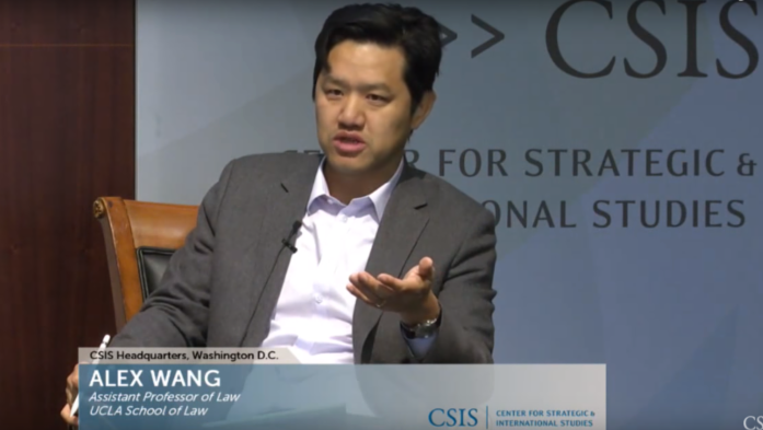 Alex Wang_ assistant professor of law at UCLA Law discussed China_s environmental policy at the Center for Strategic and International Studies earlier this year.