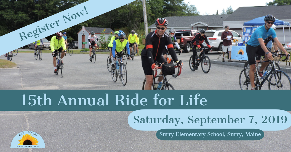Announcement for fundraising bike ride