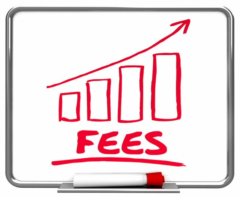 Fees Fines Service Charges Arrow Rising Trend 3d Illustration