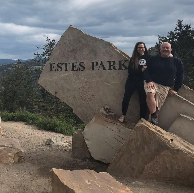 Mike and Kim Pinto at Estes Park