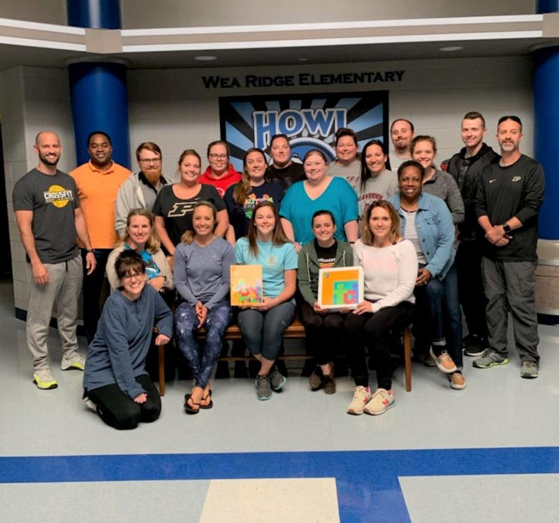 group of educators who completed the training