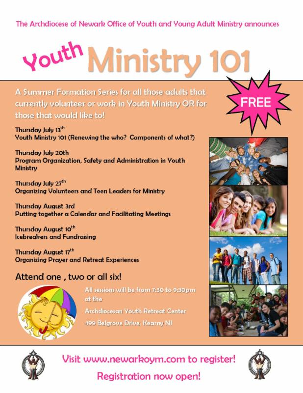 Arch of Newark June Youth Ministry eNews