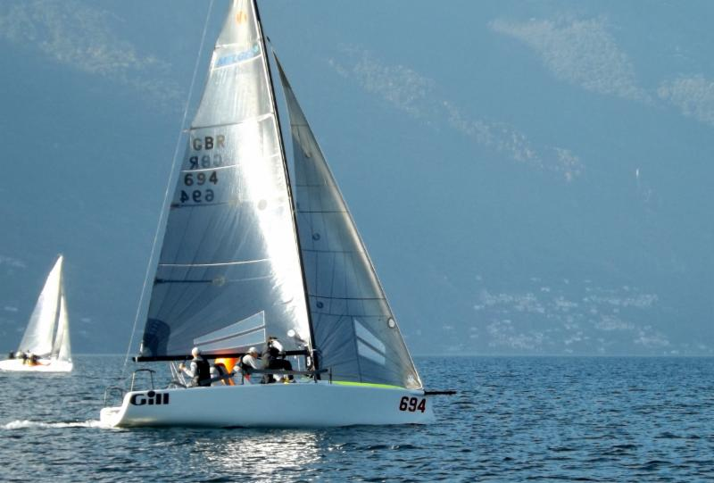 69e1a8bb643281 Miles Quinton s Gill Race Team GBR694 with Geoff Carveth in helm kept the  score line straight getting two bullets from today s races.
