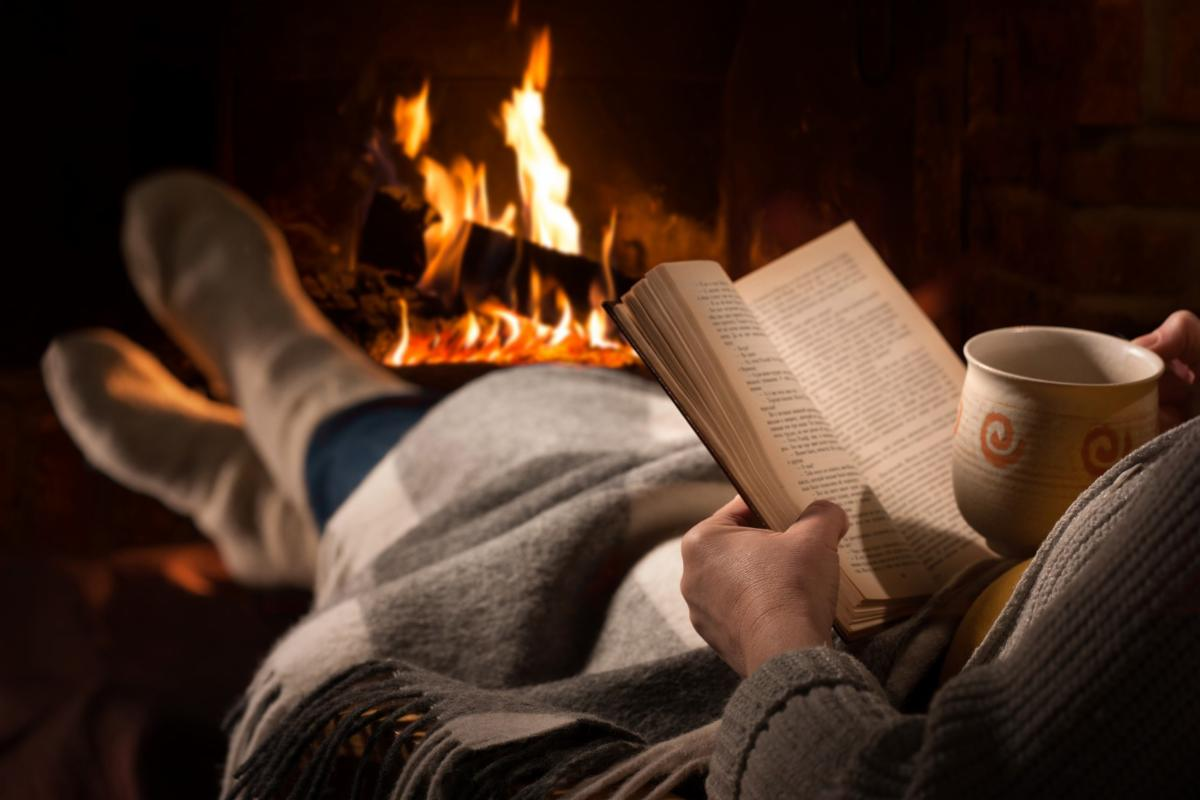Cozy with books picture