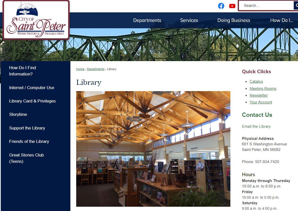 St. Peter website