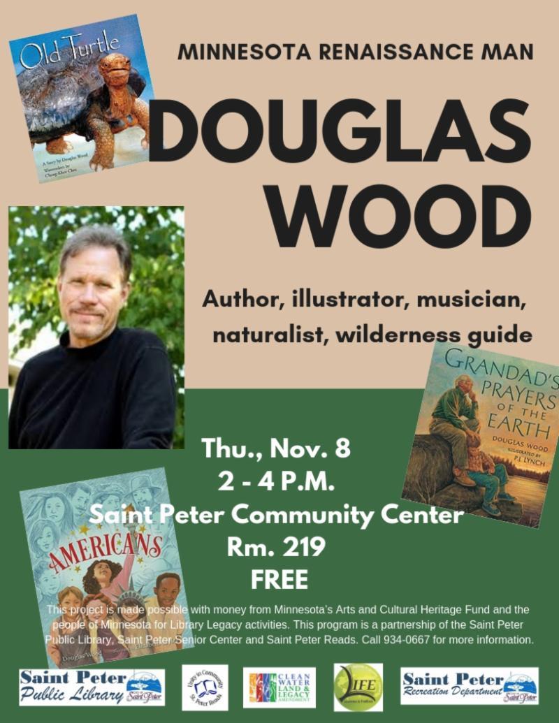 Author Douglas Wood November 8, 2-4pm