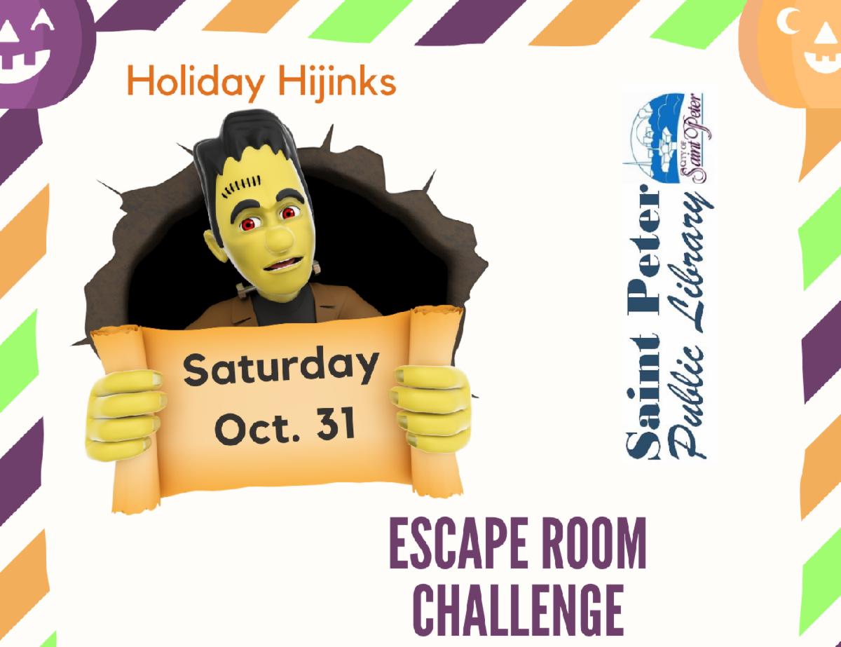 Escape Room Challenge Oct. 31