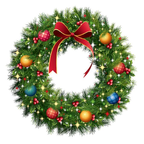 Holiday Wreath Illustration