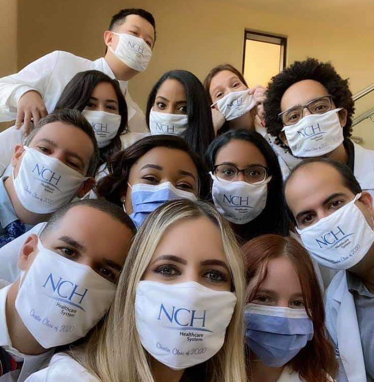 graduating residents from NCH Internal Medicine Residency