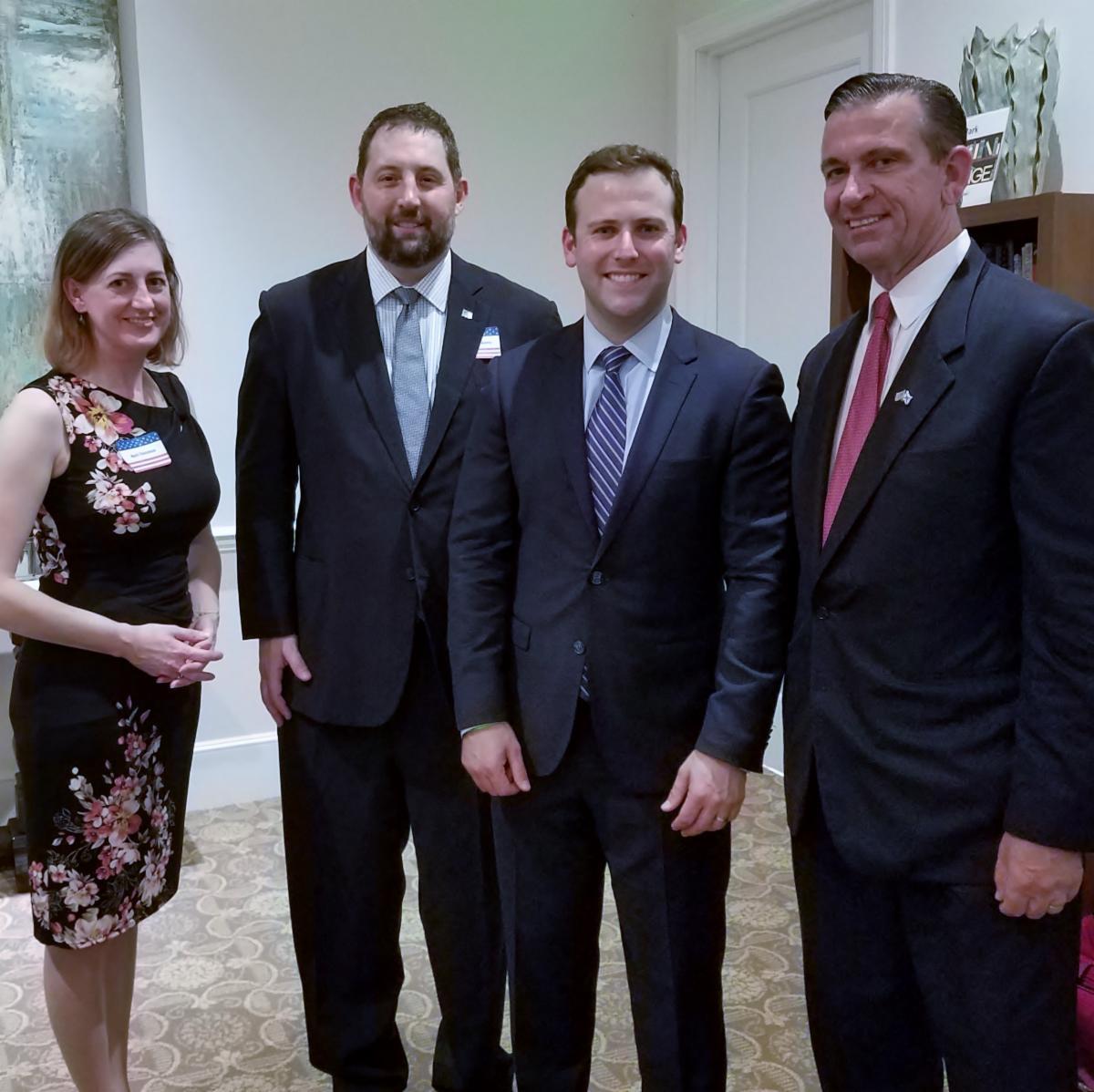 April Donahue, Dr. Stephen Schwartz, Chris Sprowls, incoming Florida House Speaker, Representative Bob Rommel