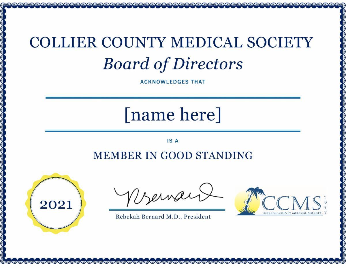 Member Certificate2021