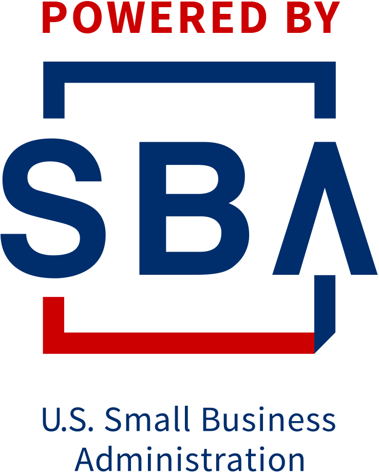 blue and red logo for the United States Small Business Administration
