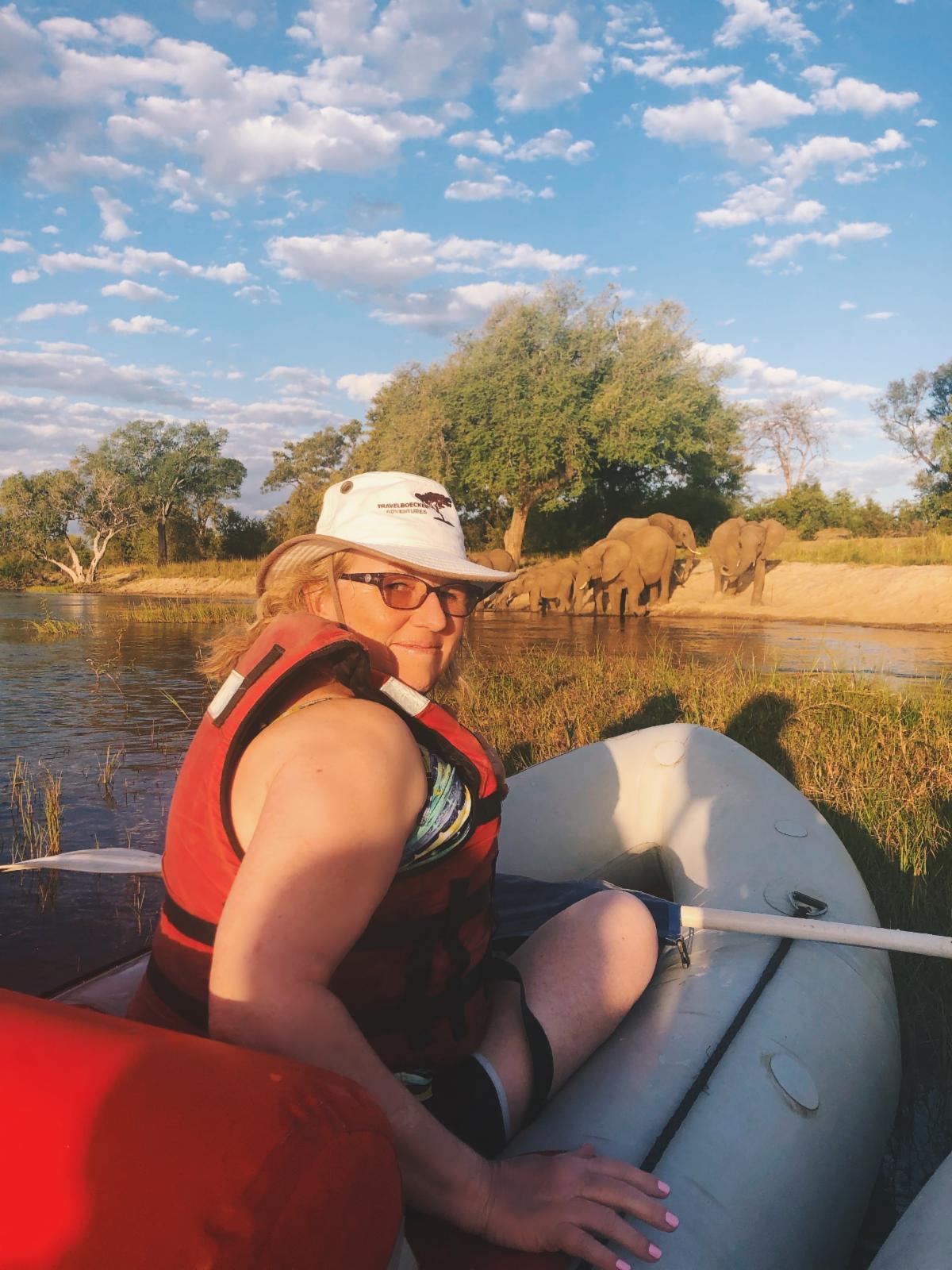 Yours truly paddling on the Zambezi