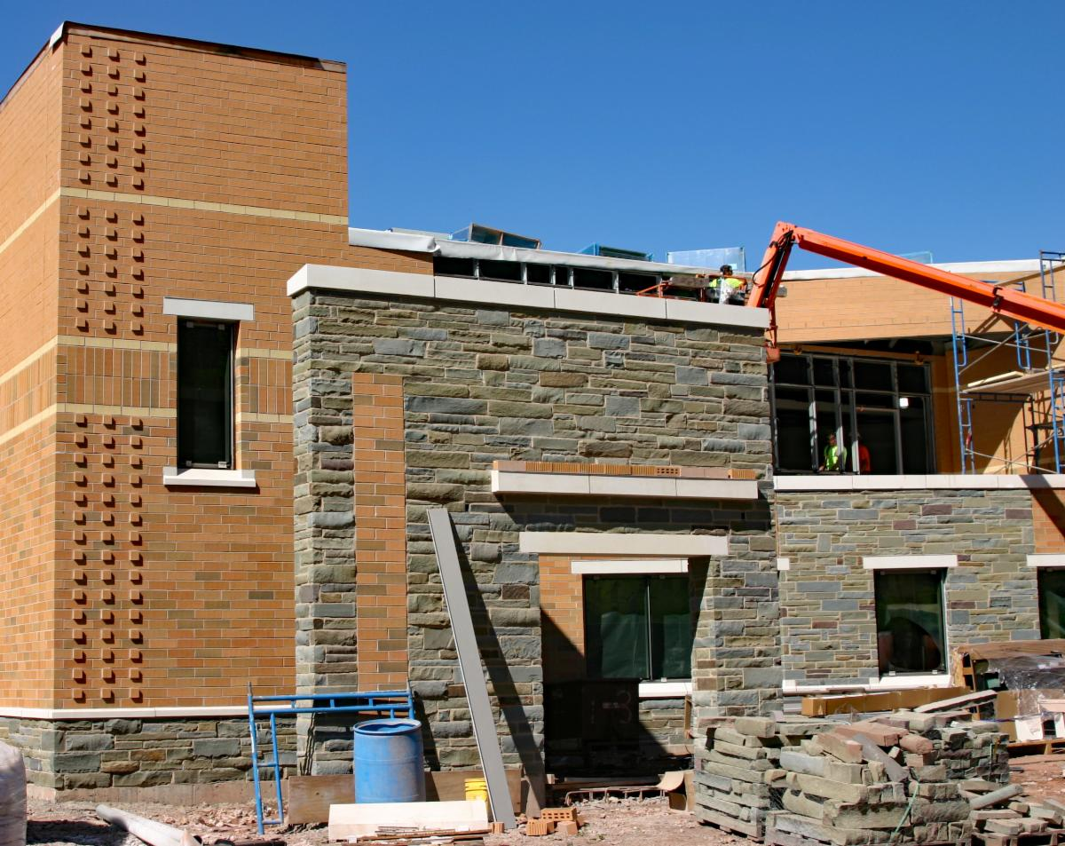 Catskill Watershed Corporation headquarters during construction