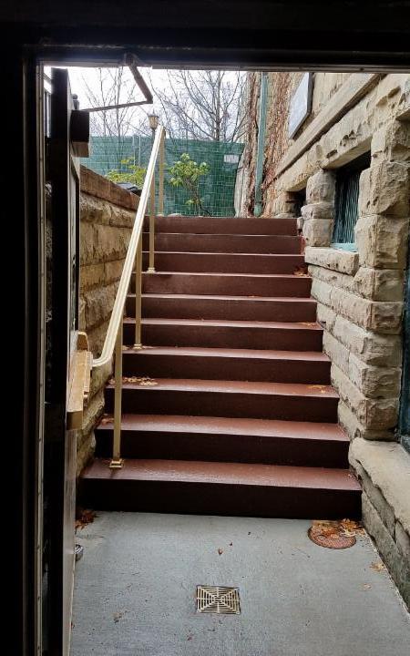 East Exterior Stairway
