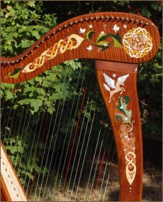 harp decoration