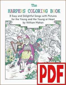 Harp Coloring Book