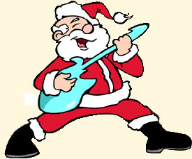 Santa electric guitar