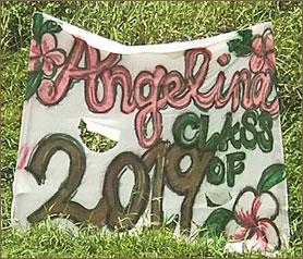 Grad sign - Angelina