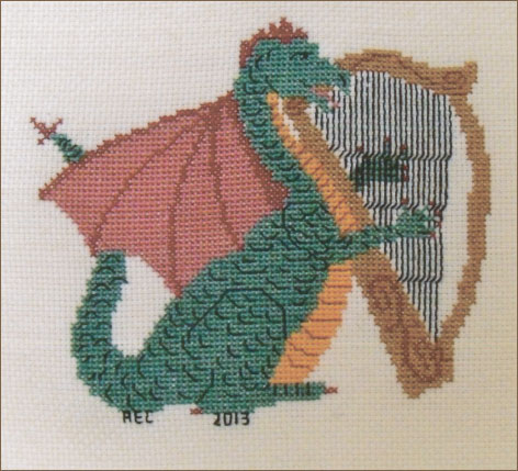 Dragon cross-stitch