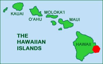 Hawaii Map Volcano