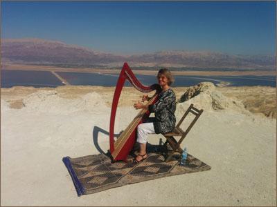Sunita at Dead Sea