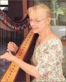 Jane Sullivan with harp