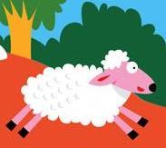 Lamb hiding