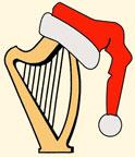 Santa hat harp