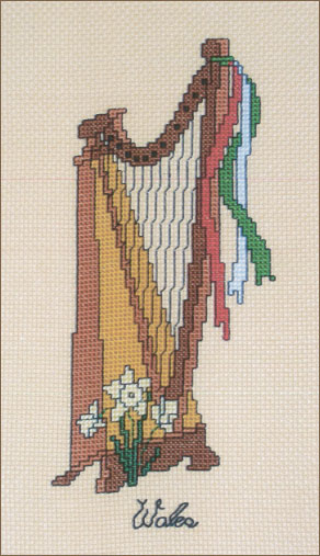 Welsh cross-stitch