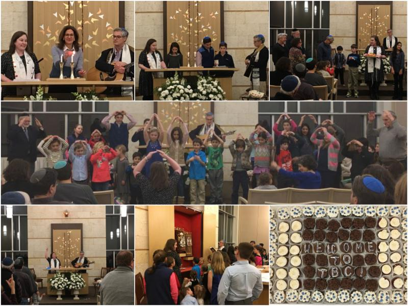 Shabbat Family Service Welcoming New Religious School  Students 1-6-17