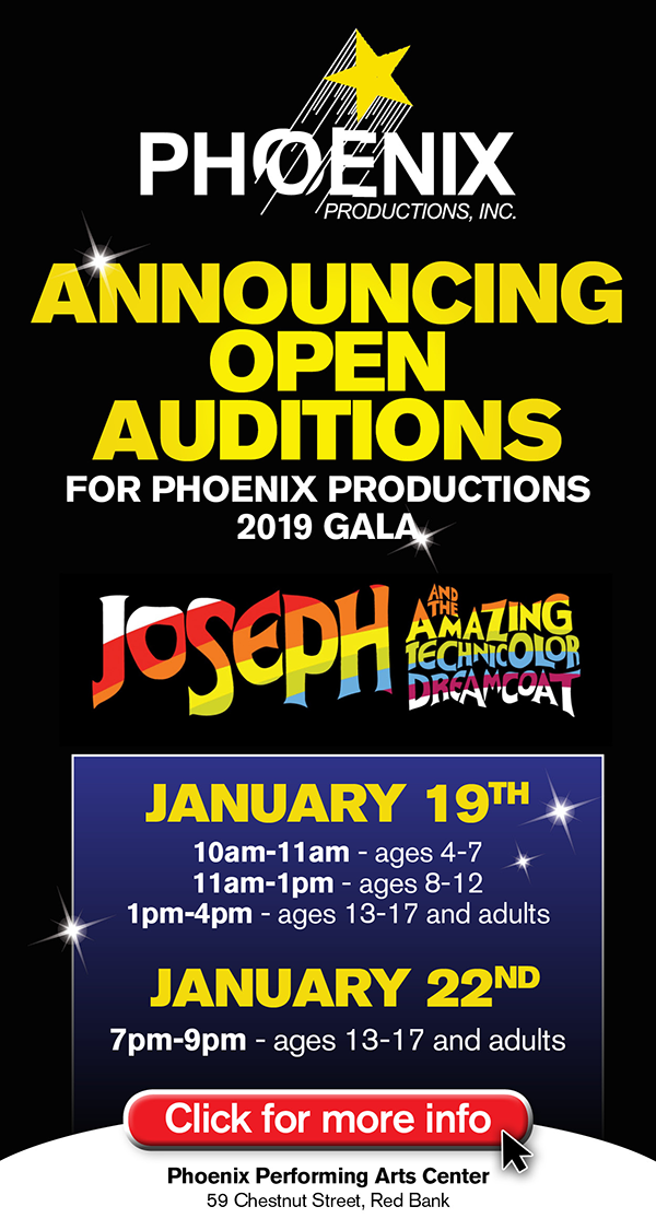 nj arts maven: Open Auditions For Phoenix Productions' 2019