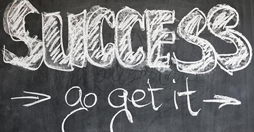 chalkboard image that says Success - Go Get It