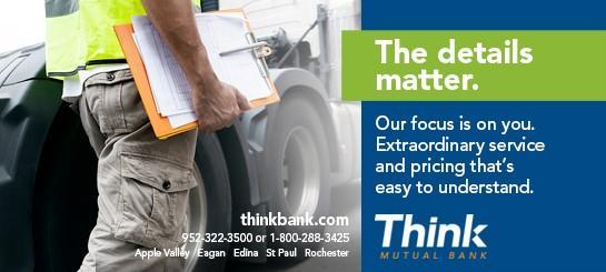 Think Mutual Bank Weekly Update sponsorship