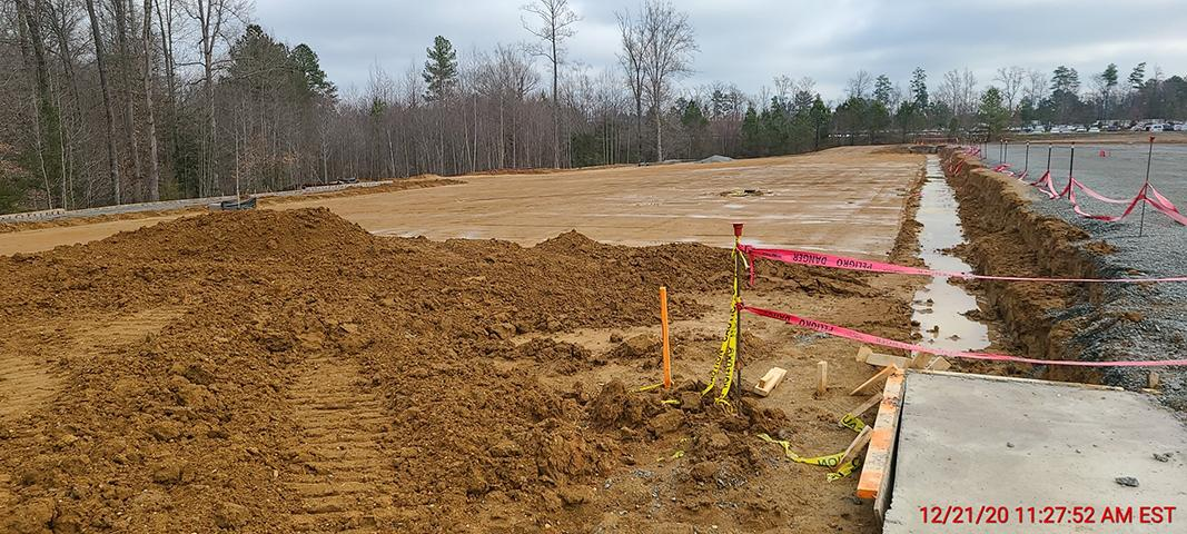 Winding Brook Industrial December Construction Progress