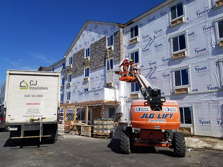 WoodSpring Suites Elgin March construction progess