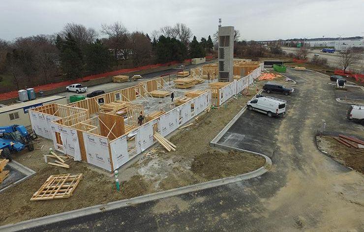 WoodSpring Suites in Gurnee IL December 2020 construction progress