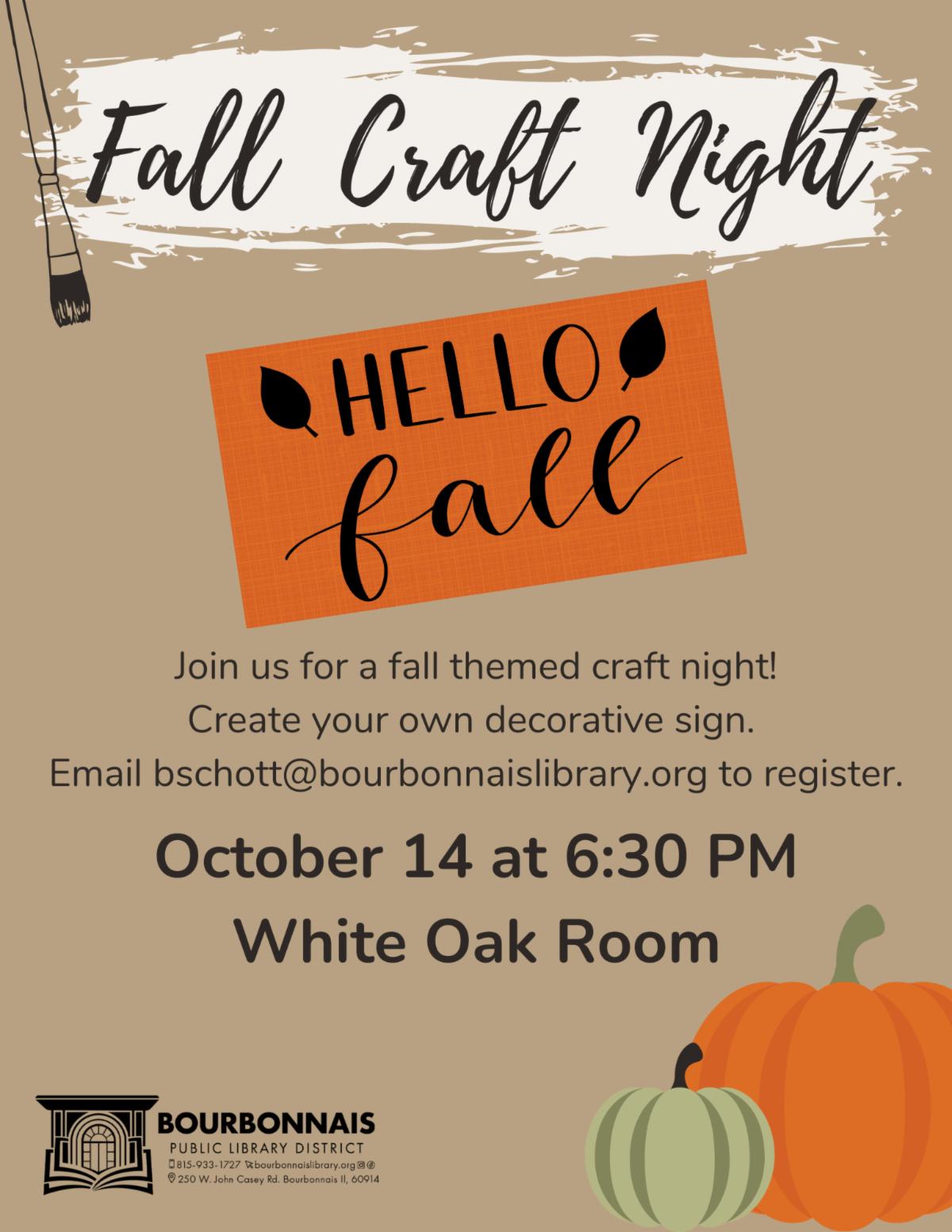 Fall Craft Night