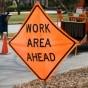 roadsign work ahead