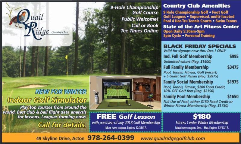 Black Friday Membership Specials & Indoor Golf Simulator