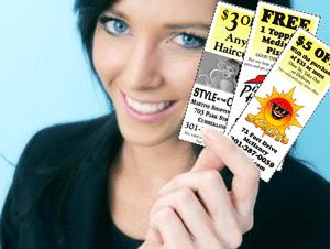 girl with coupon